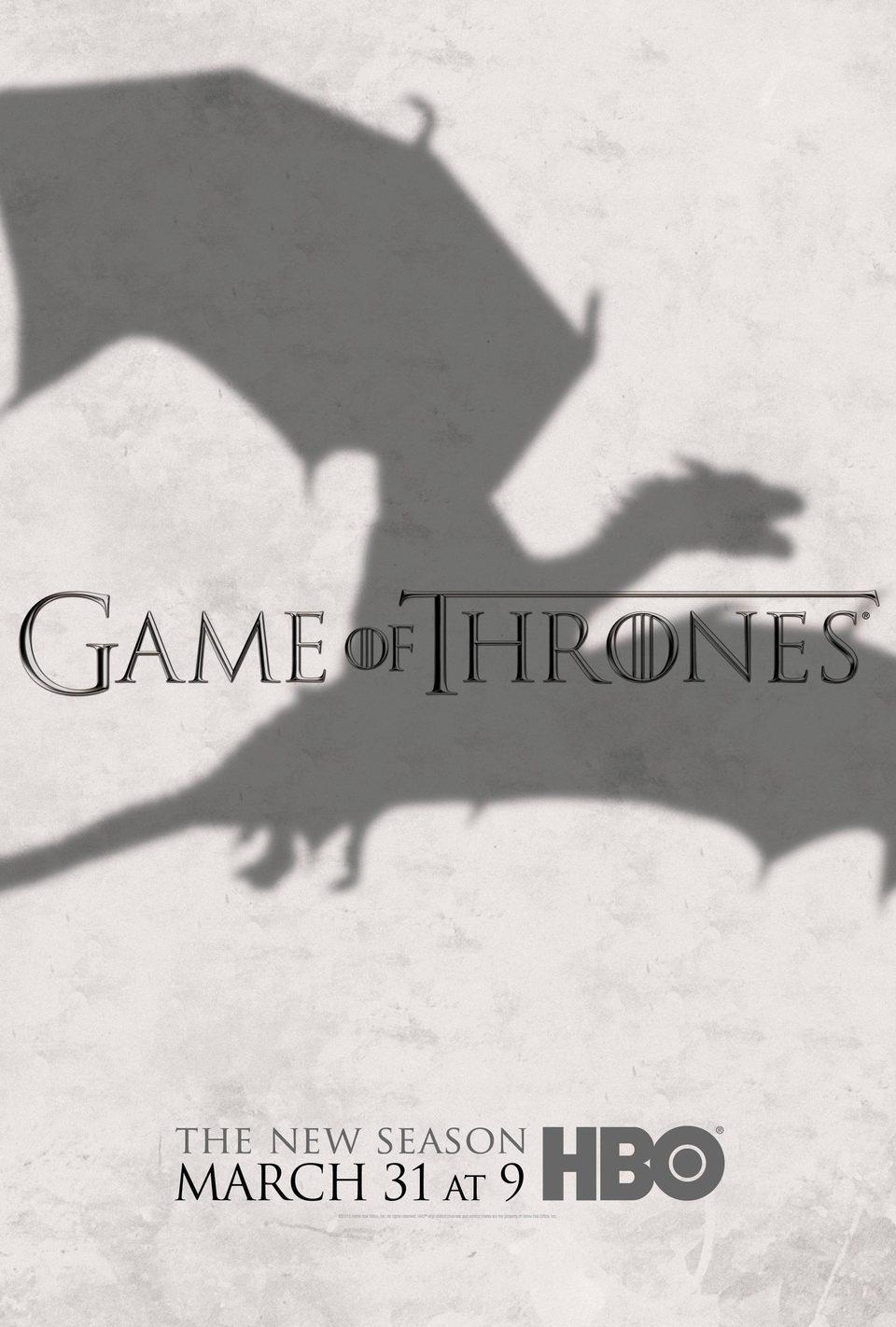 Cartel Temporada 3 de 'Juego de Tronos'
