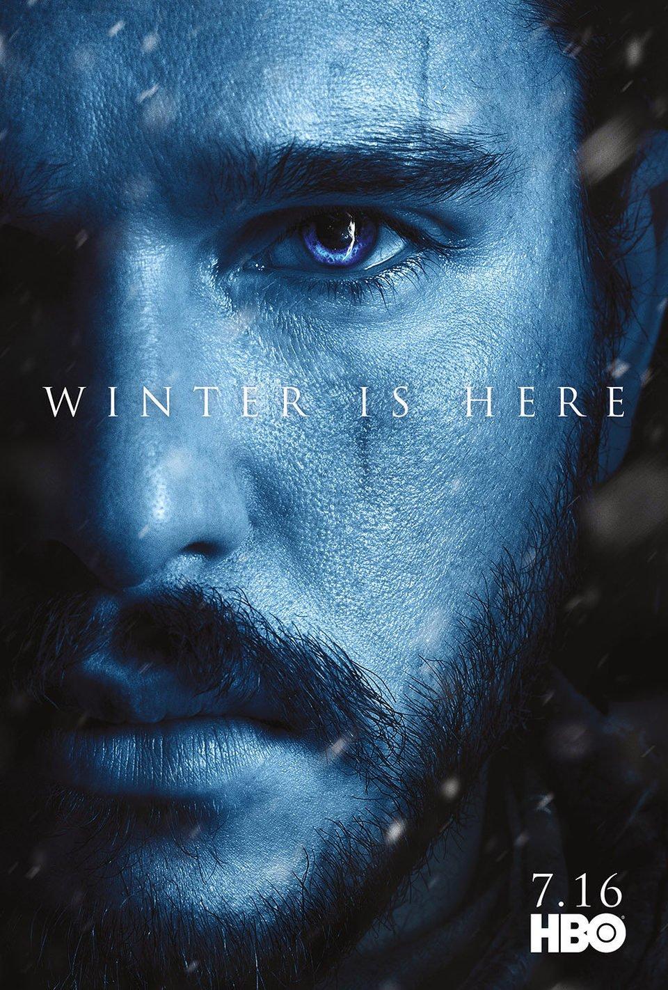 Cartel Temporada 7 Jon Snow de 'Juego de Tronos'