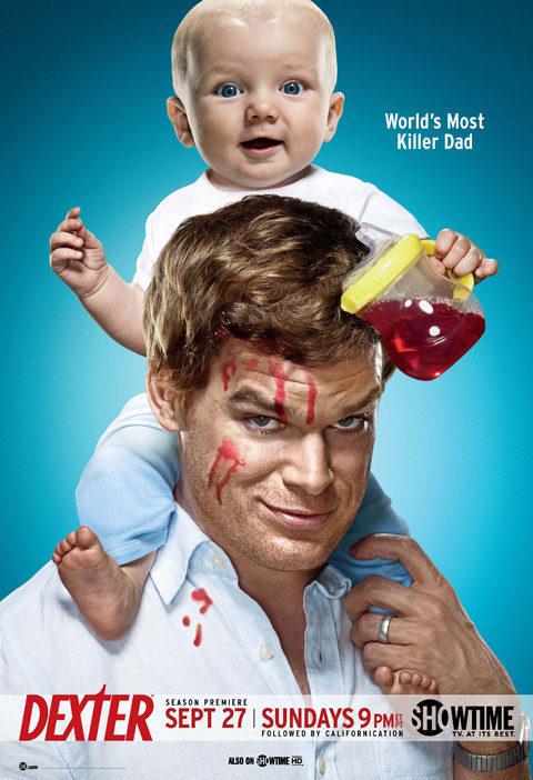 Cartel Temporada 4 de 'Dexter'