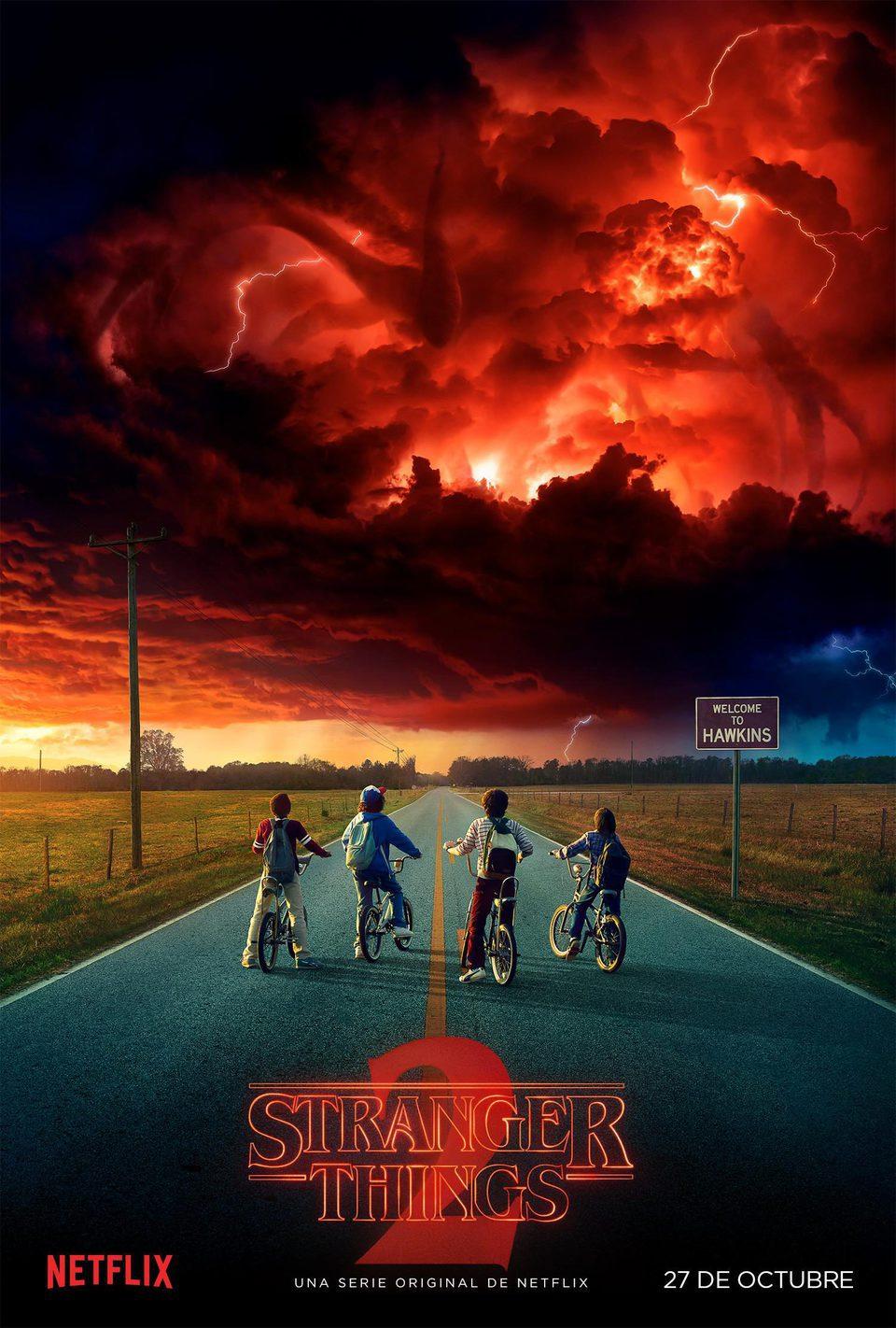 Cartel Temporada 2 teaser de 'Stranger Things'