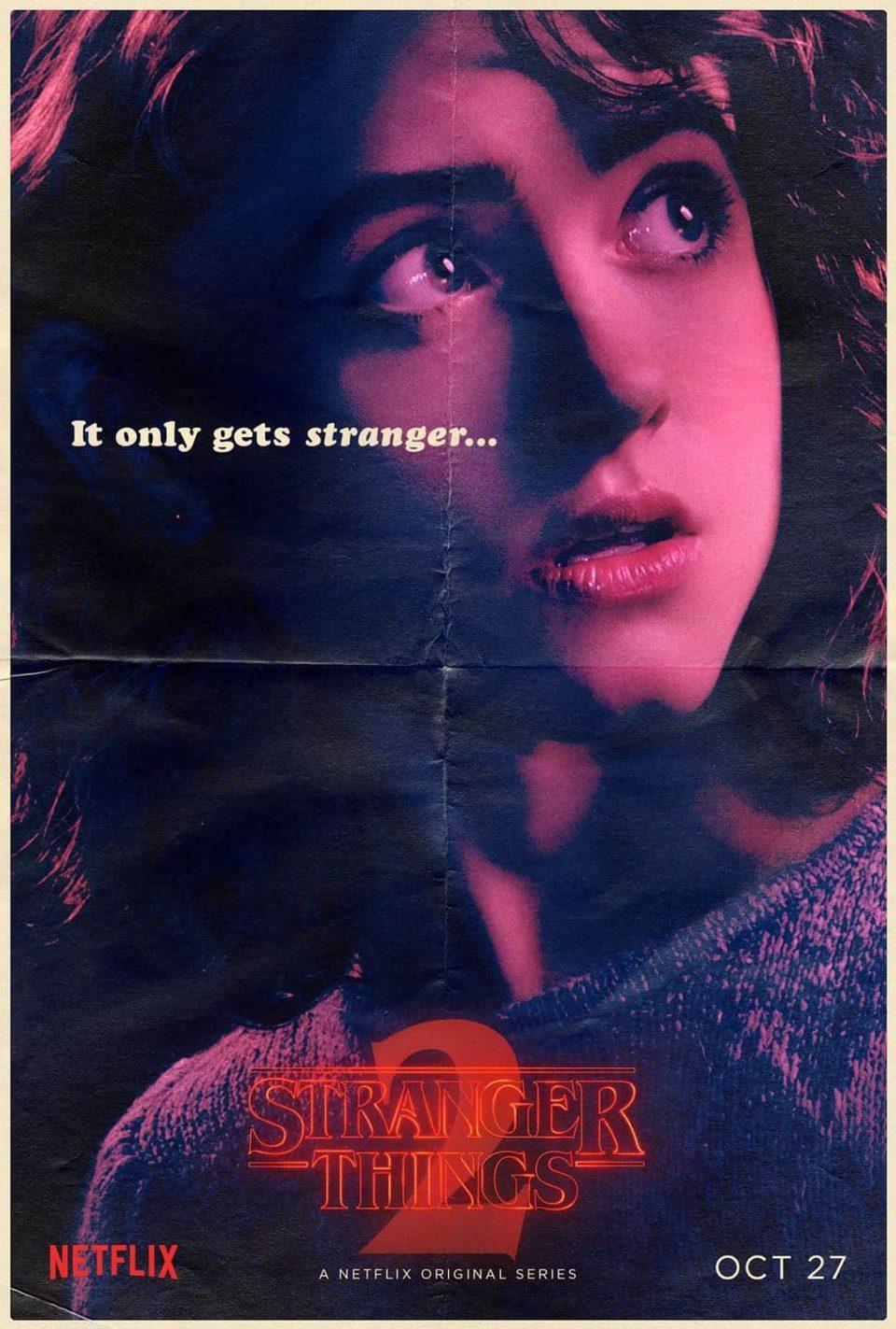 Cartel Nancy Wheeler - Temporada 2 de 'Stranger Things'