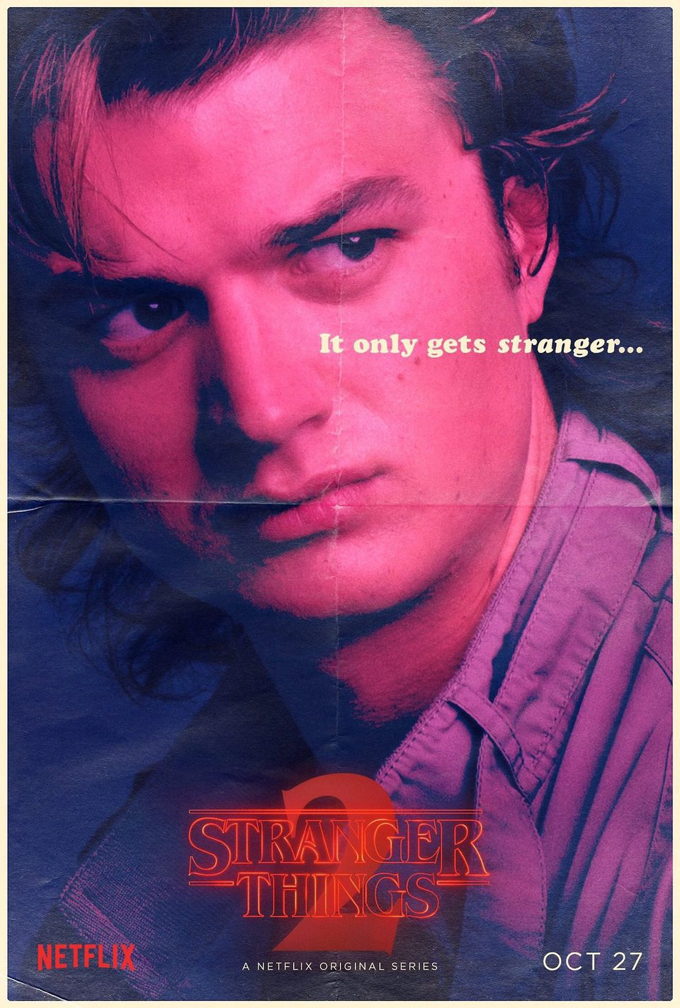 Cartel Steve Harrington - Temporada 2 de 'Stranger Things'