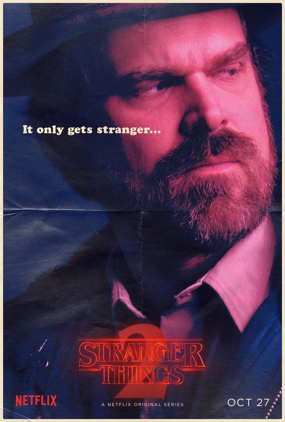 Cartel Jim Hopper - Temporada 2 de 'Stranger Things'