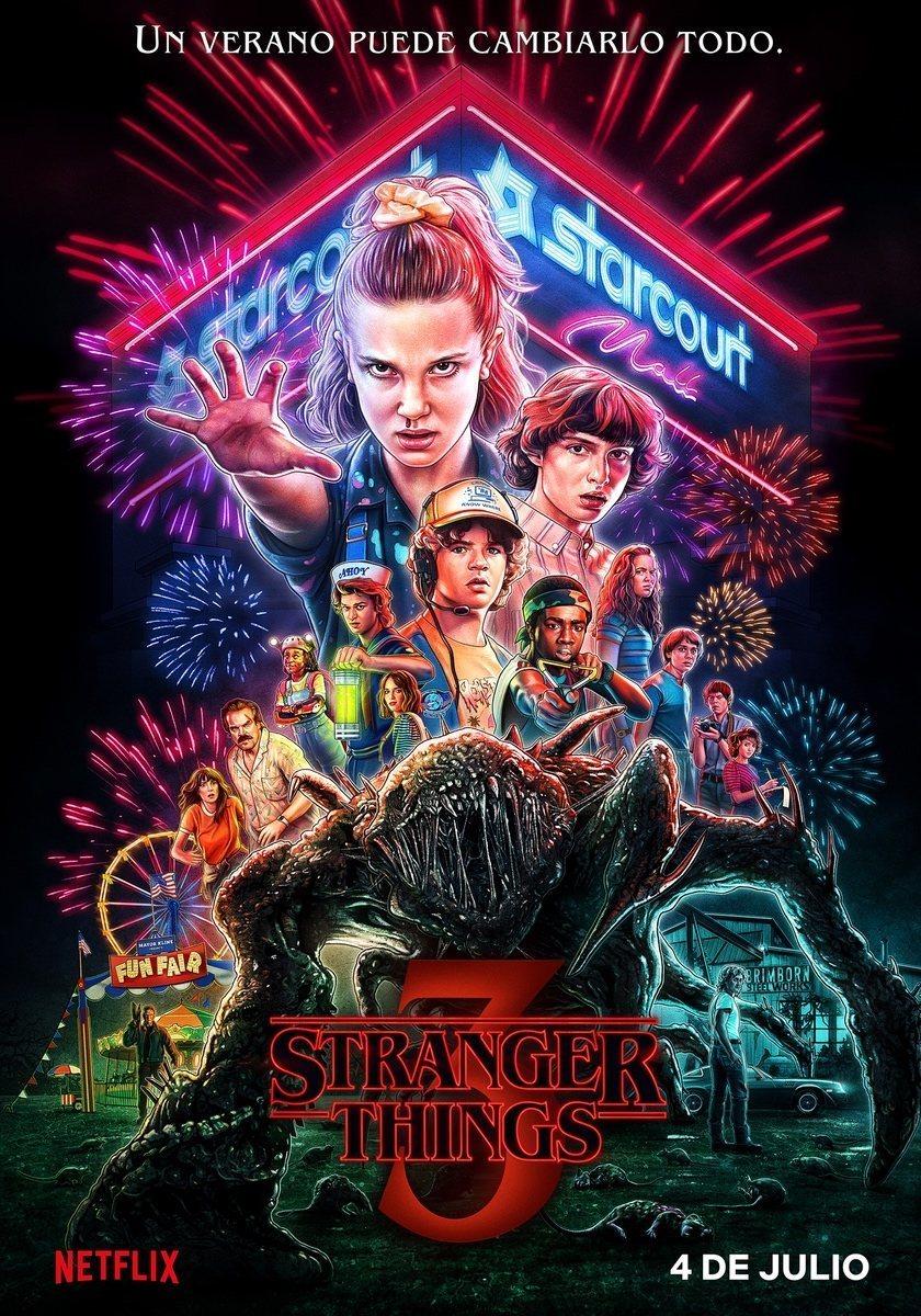 Cartel Temporada 3 de 'Stranger Things'