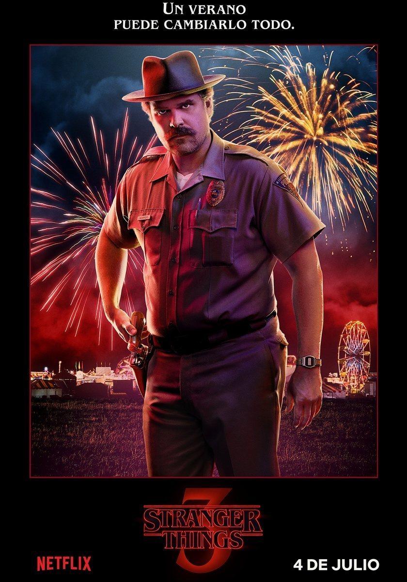 Cartel Jim Hooper - Temporada 3 de 'Stranger Things'