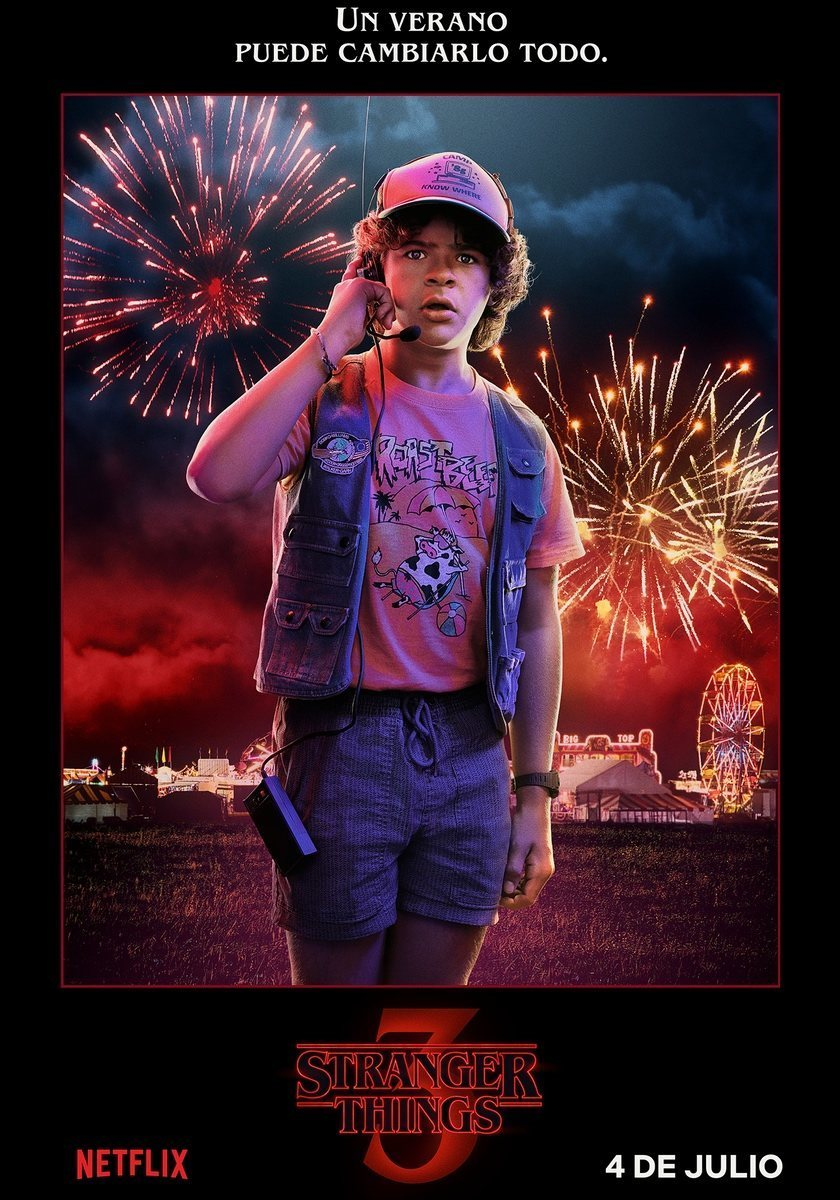 Cartel Dustin - Temporada 3 de 'Stranger Things'