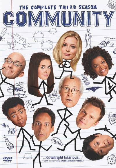Cartel Temporada 3 de 'Community'
