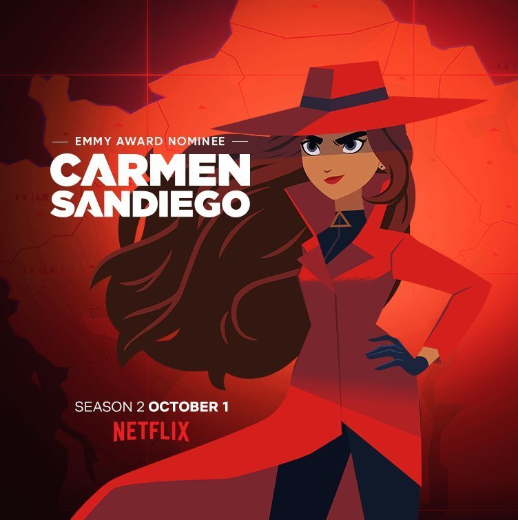 Cartel Temporada 2 de 'Carmen Sandiego'