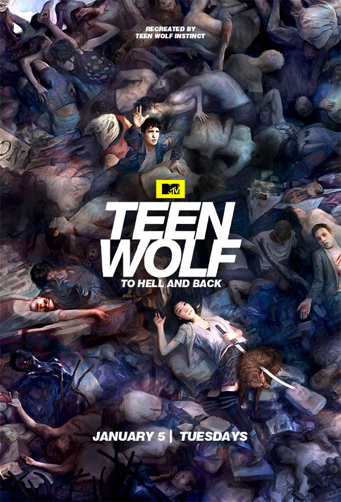 Cartel Temporada 5 de 'Teen Wolf'