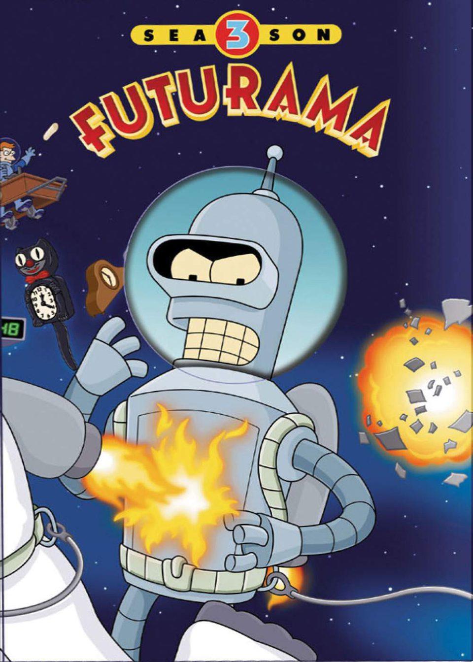 Cartel Temporada 3 de 'Futurama'