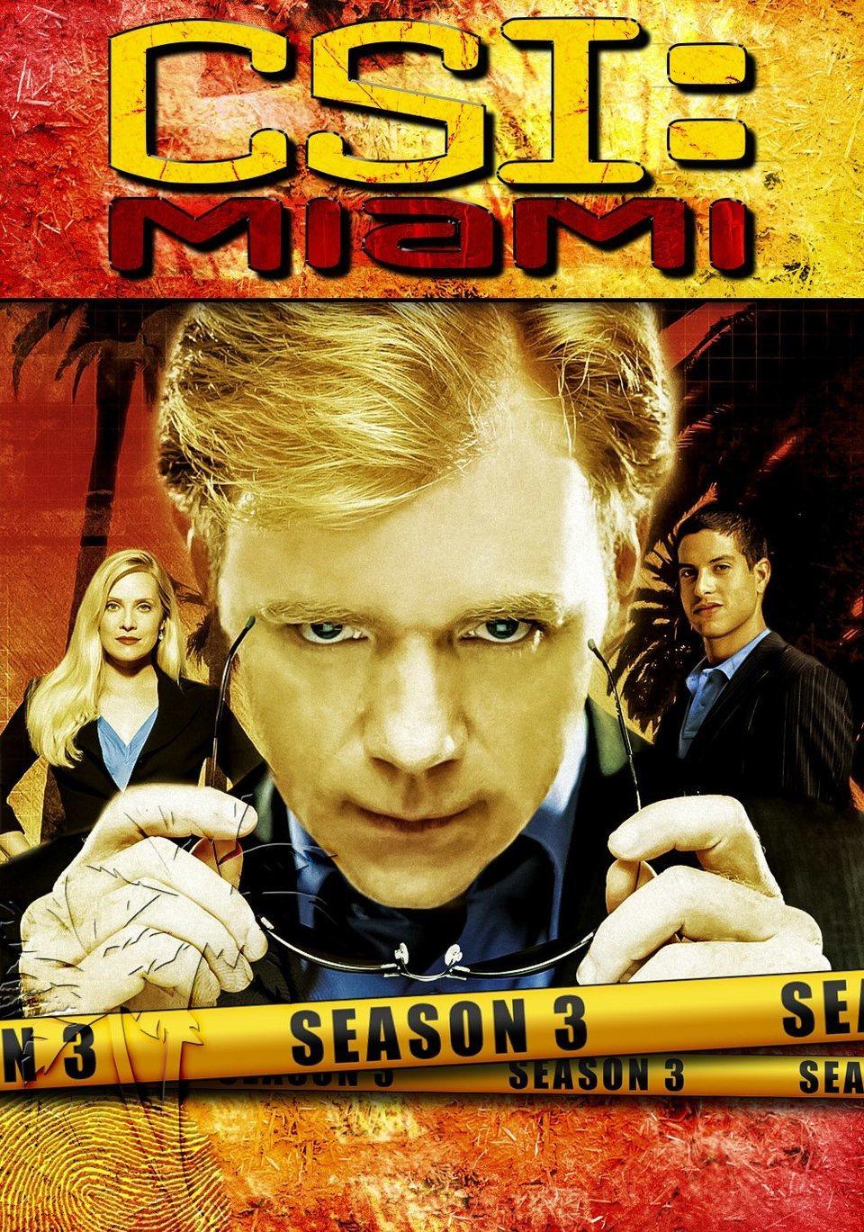Cartel Temporada 3 de 'CSI: Miami'