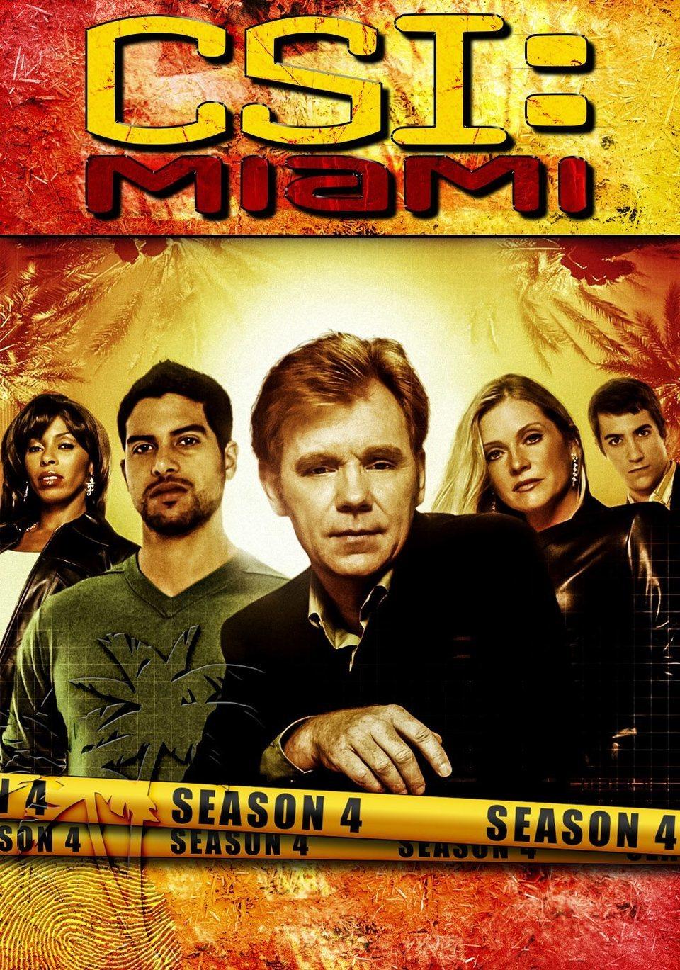 Cartel Temporada 4 de 'CSI: Miami'