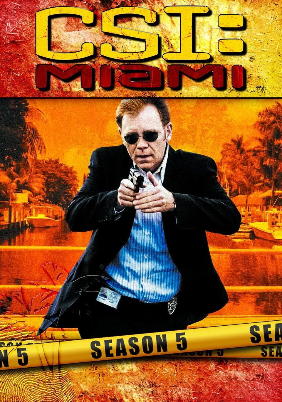 Cartel Temporada 5 de 'CSI: Miami'