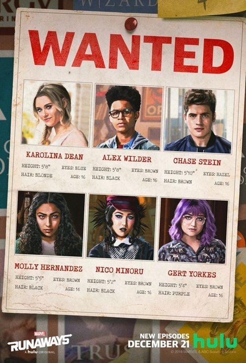 Cartel Temporada 2 de 'Runaways'