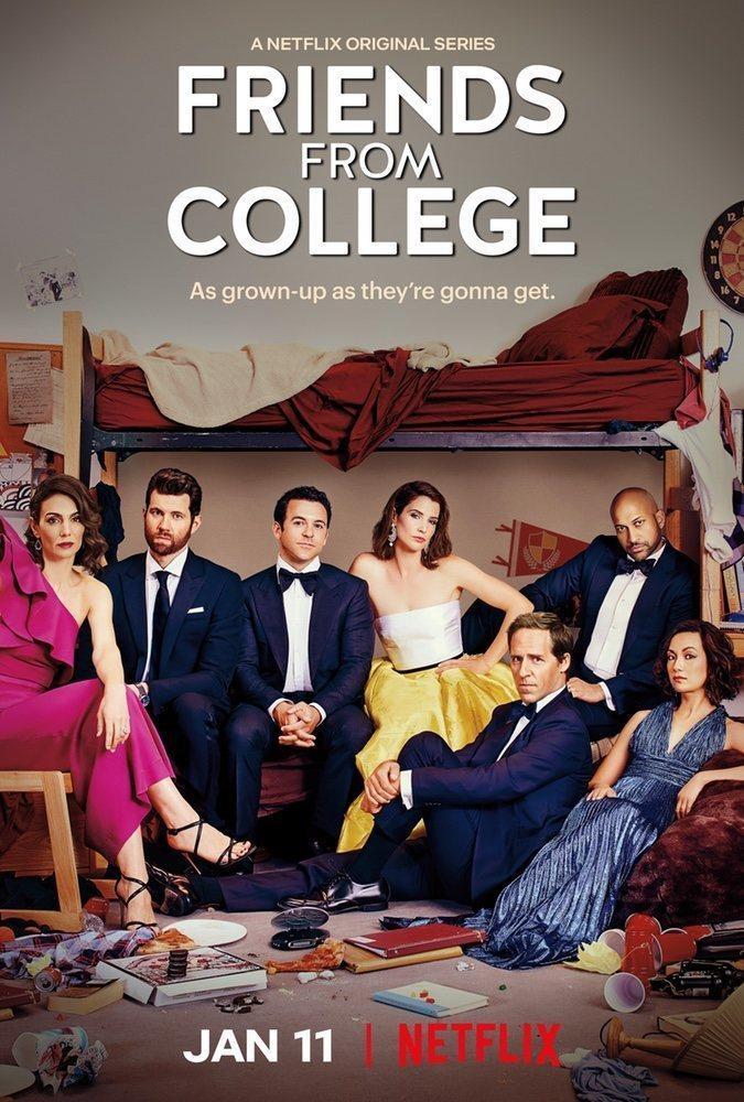 Cartel Temporada 2 de 'Amigos de la universidad'