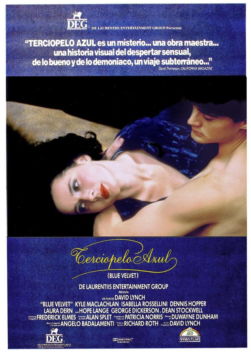 Cartel España de 'Terciopelo azul'
