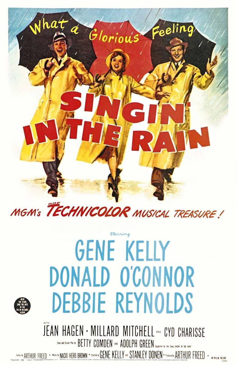 Cartel Estados Unidos de 'Cantando bajo la lluvia'
