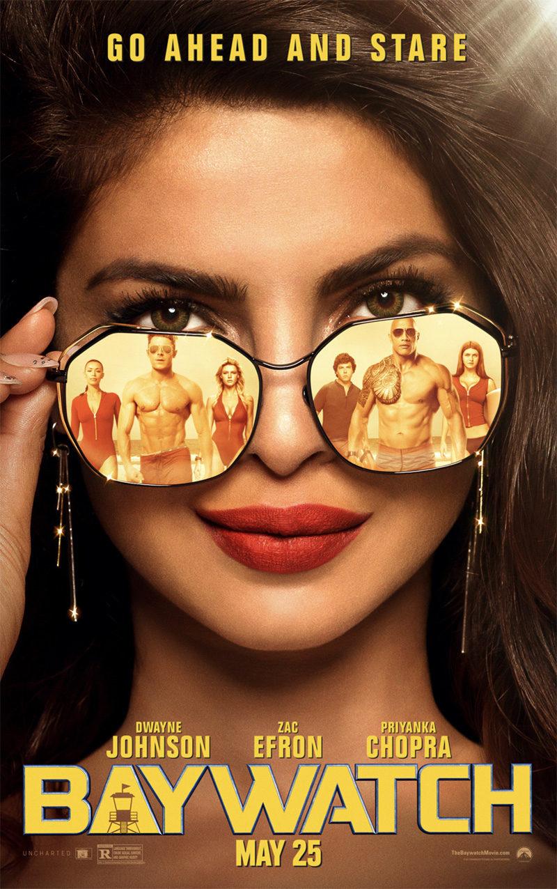 Cartel Priyanka Chopra en 'Los Viglantes de la Playa' de 'Baywatch: Los vigilantes de la playa'