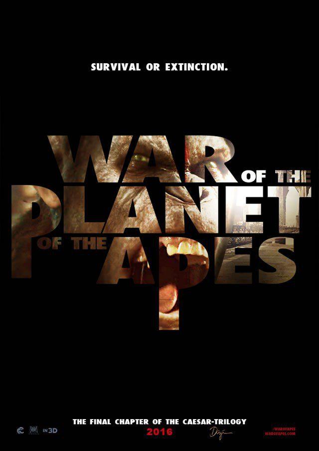Cartel Internacional de 'La guerra del planeta de los simios'