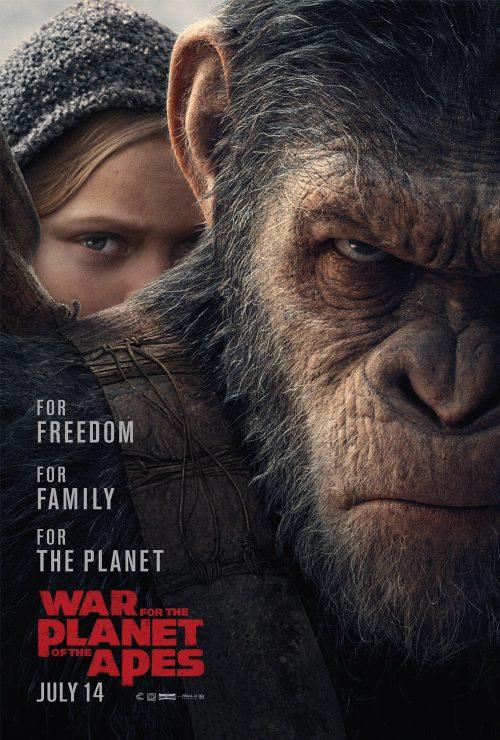 Cartel Póster #2 de 'La guerra del planeta de los simios'