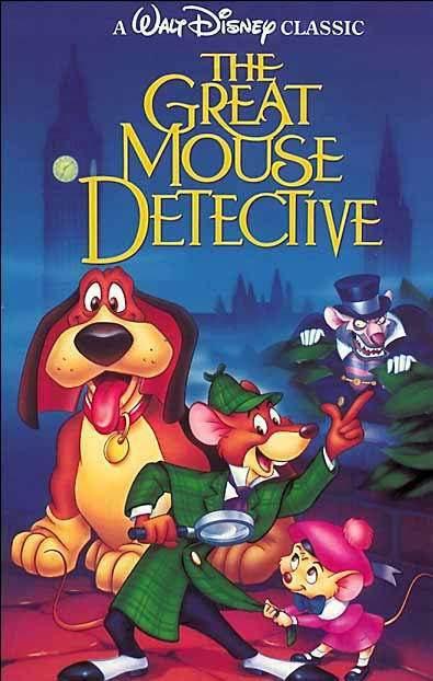 Cartel 'The Great Mouse Detective' de 'Basil, el ratón superdetective'