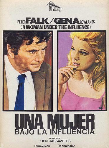 Cartel Internacional de 'Una mujer bajo la influencia'