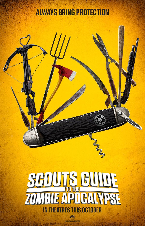 Cartel Estados Unidos de 'Scouts Guide to the Zombie Apocalypse'