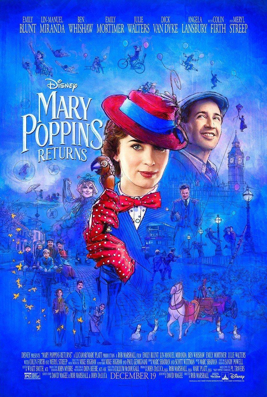 Cartel Póster EEUU de 'El regreso de Mary Poppins'
