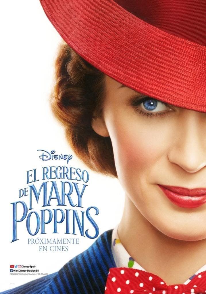 Cartel Póster España de 'El regreso de Mary Poppins'