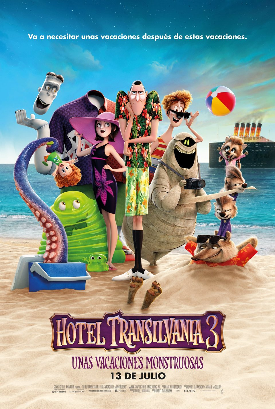 Cartel Cartel España de 'Hotel Transilvania 3: Unas vacaciones monstruosas'