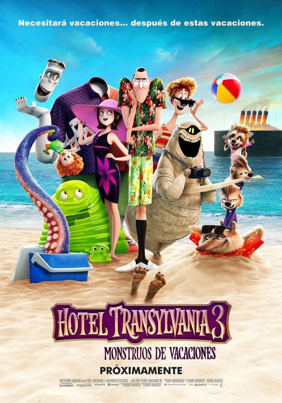 Cartel México de 'Hotel Transilvania 3: Unas vacaciones monstruosas'