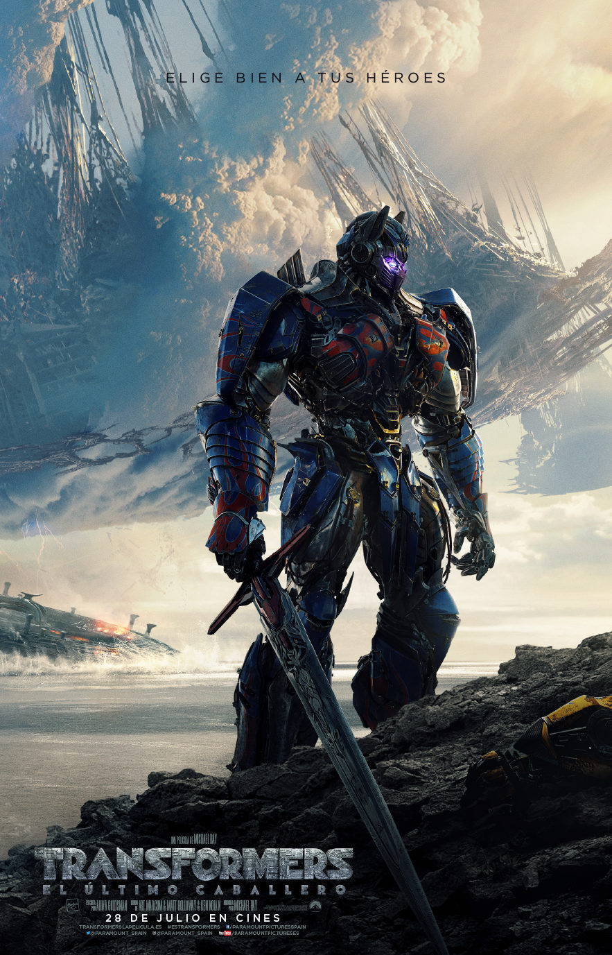 Cartel Póster en castellano de Transformers: El Último Caballero de 'Transformers: El último caballero'