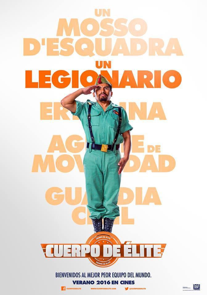 Cartel Juan Carlos Aduviri de 'Cuerpo de élite'
