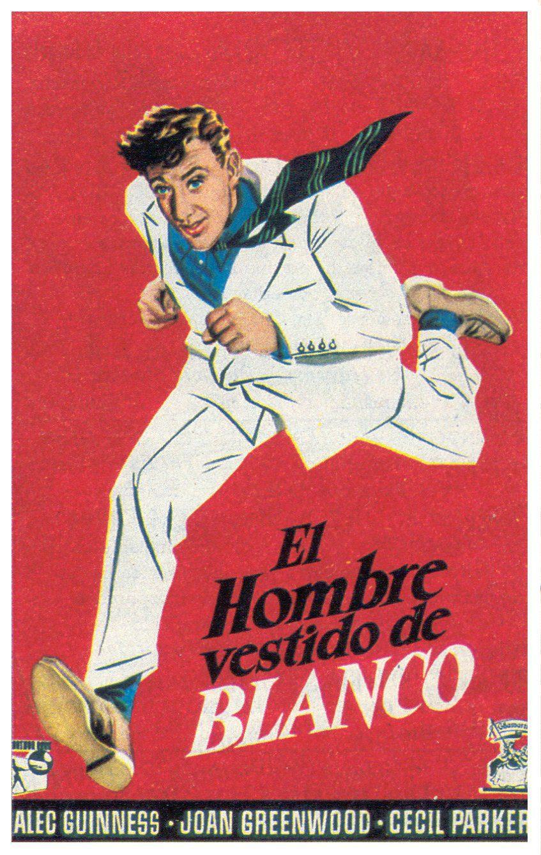 Cartel España de 'El hombre vestido de blanco'