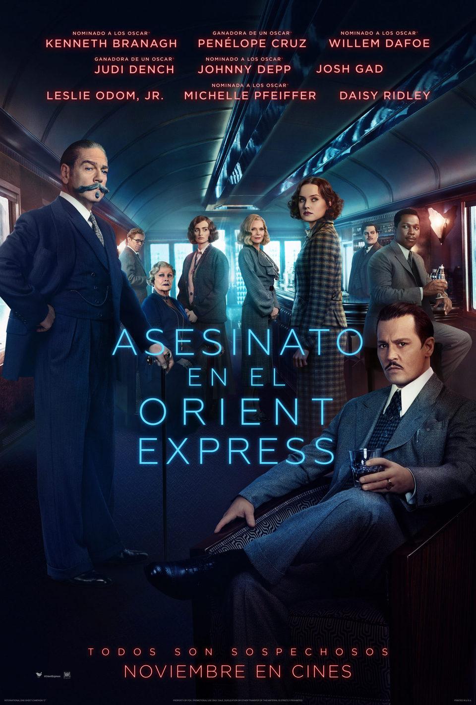 Cartel España de 'Asesinato en el Orient Express'
