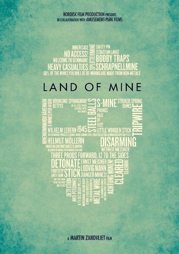 Cartel Land of Mine de 'Land of Mine: Bajo la arena'