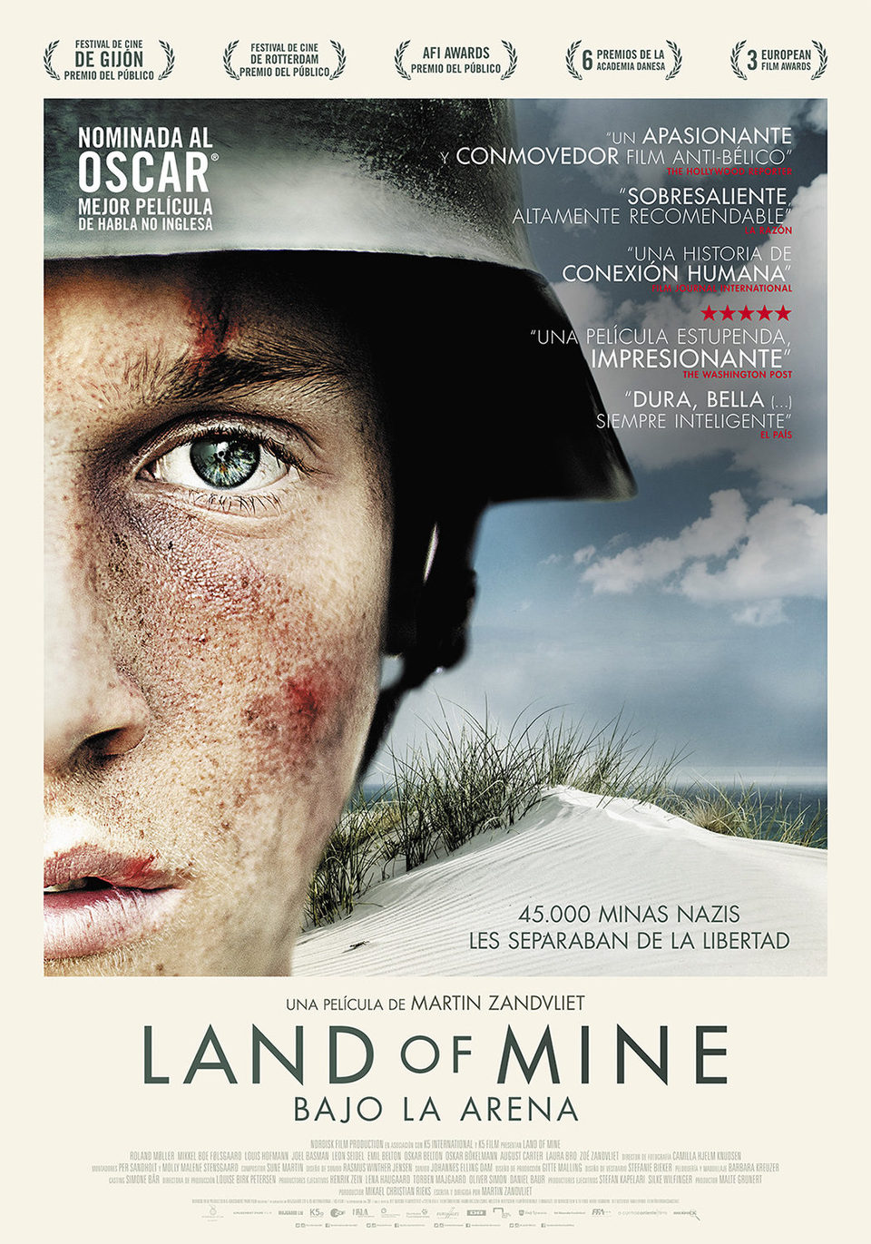 Cartel España de 'Land of Mine: Bajo la arena'