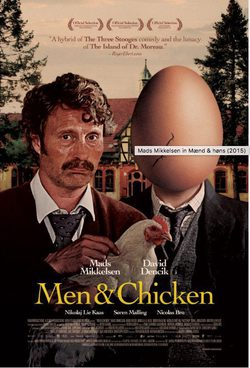 Cartel de Men And Chicken