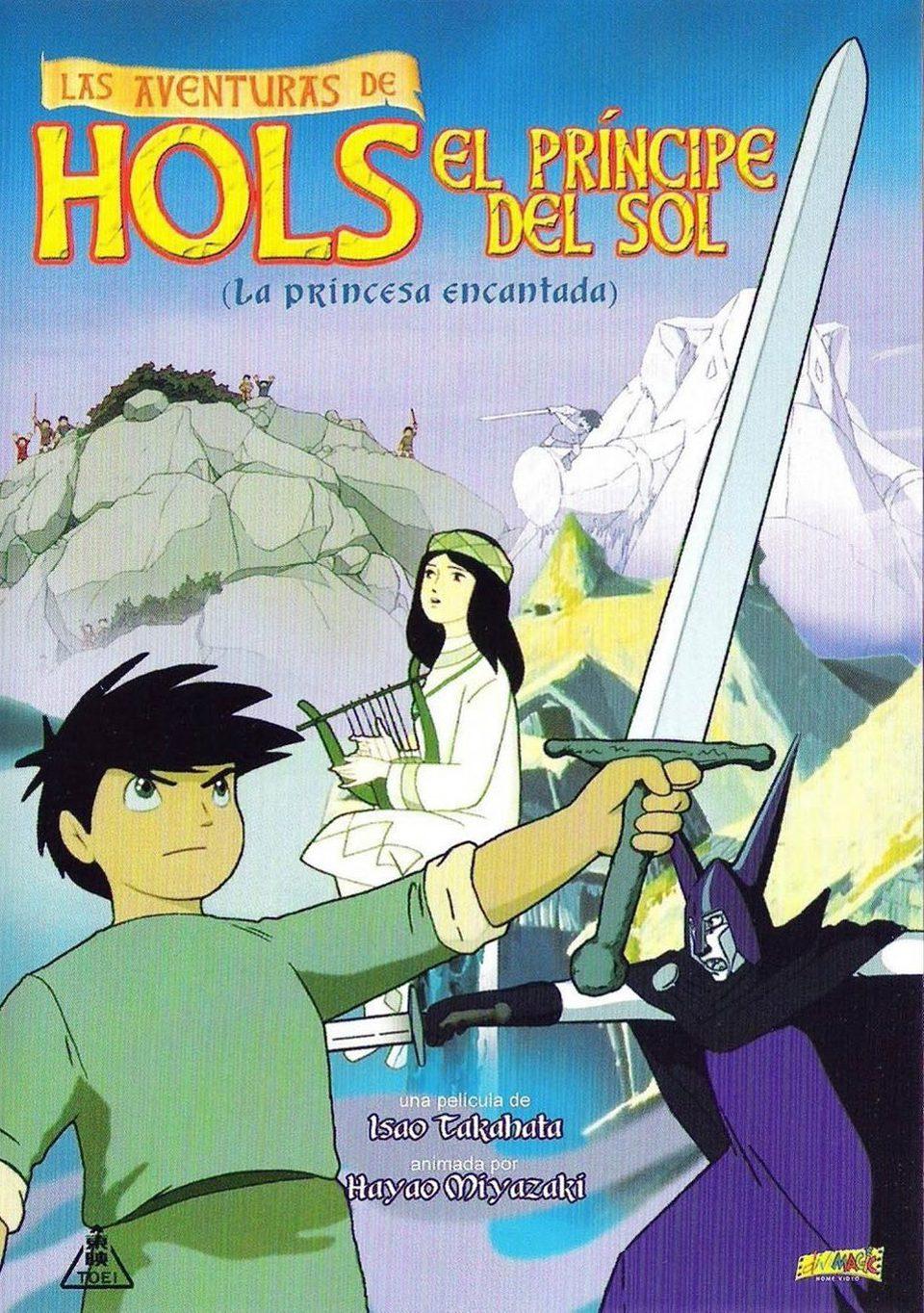 Cartel España de 'Las aventuras de Hols, el príncipe del Sol: La princesa encantada'