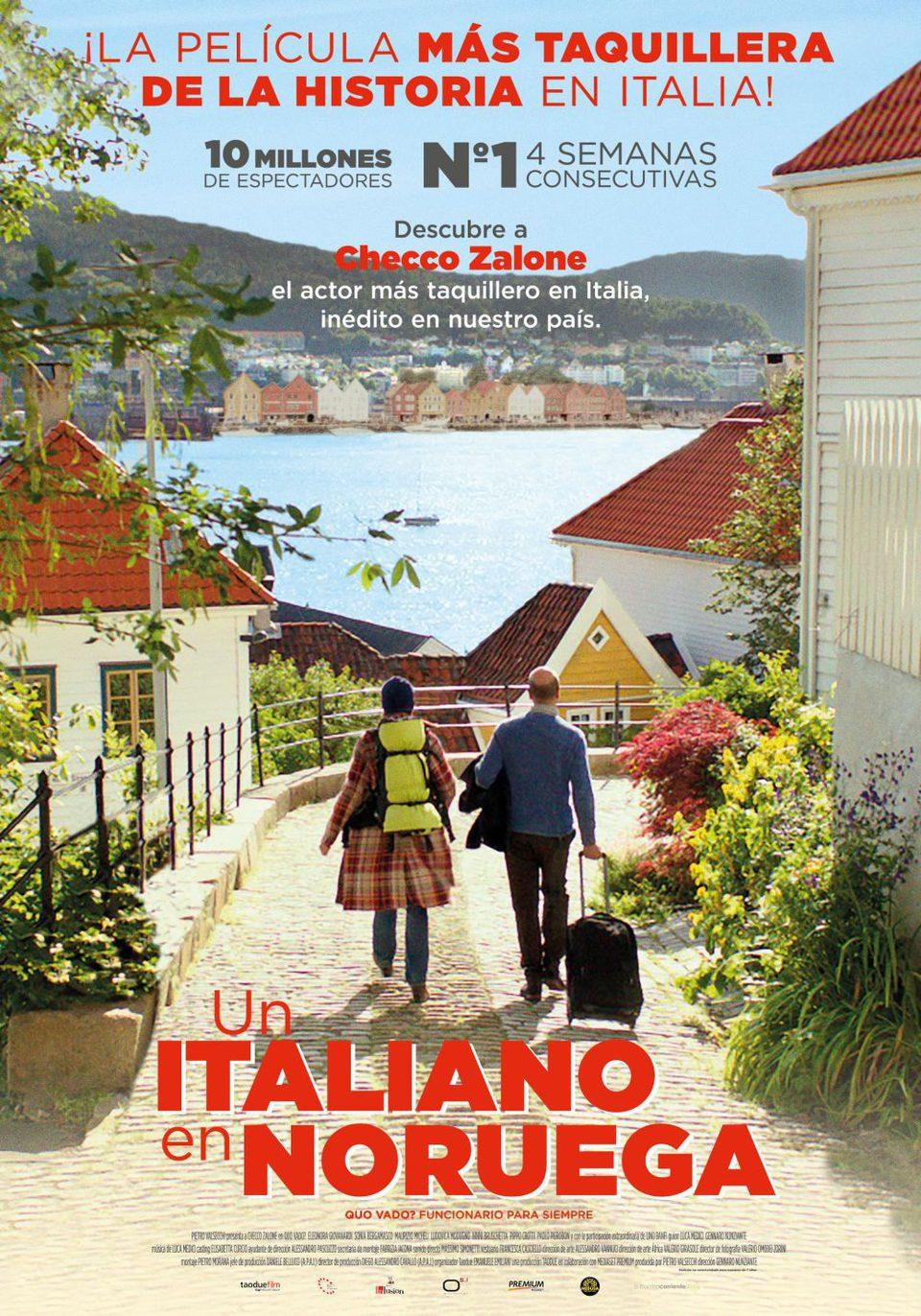 Cartel España de 'Un italiano en Noruega'