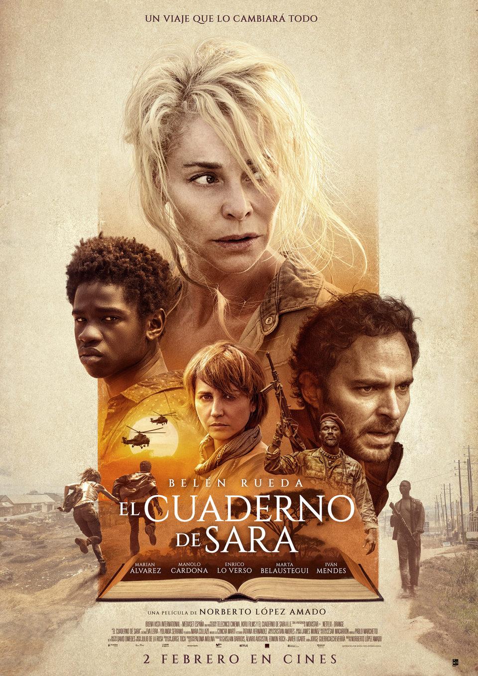 Cartel España de 'El cuaderno de Sara'