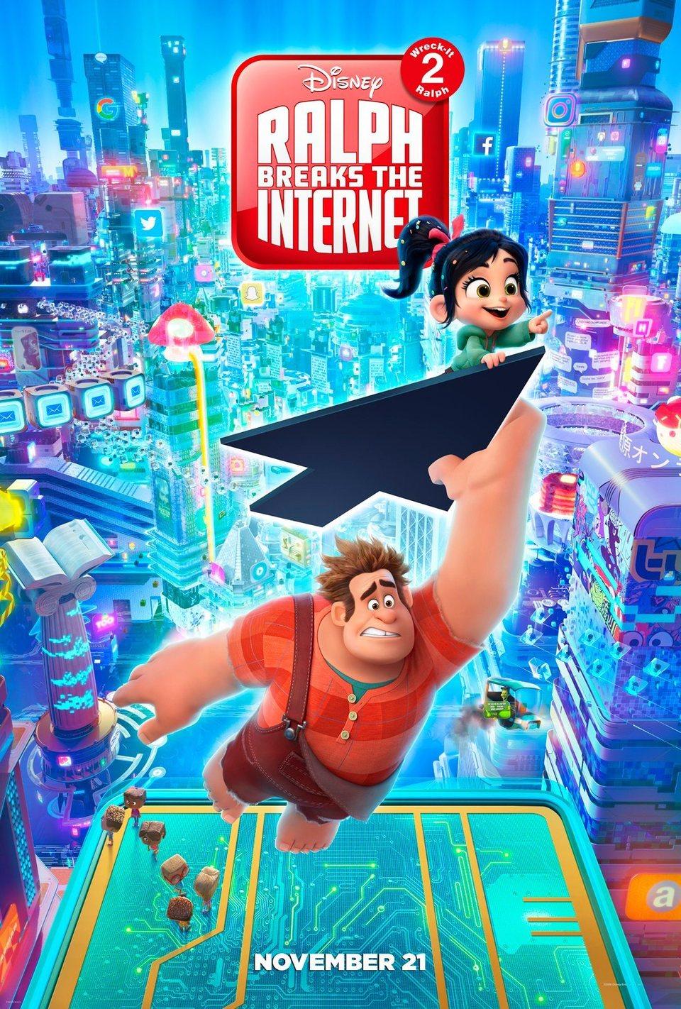Cartel EEUU de 'Ralph Rompe Internet'