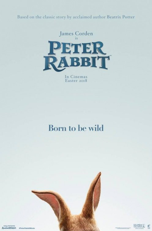 Cartel Reino Unido de 'Peter Rabbit'