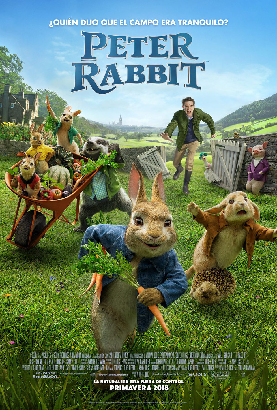 Cartel España de 'Peter Rabbit'