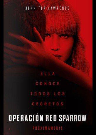 Cartel Póster latino de 'Gorrión rojo'