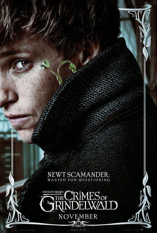 Cartel Newt Scamander de 'Animales Fantásticos: Los crímenes de Grindelwald'