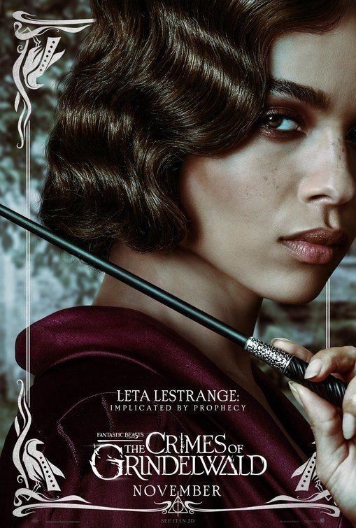 Cartel Leta Lestrange de 'Animales Fantásticos: Los crímenes de Grindelwald'
