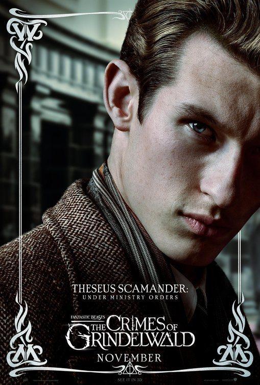 Cartel Theseus Scamander de 'Animales Fantásticos: Los crímenes de Grindelwald'