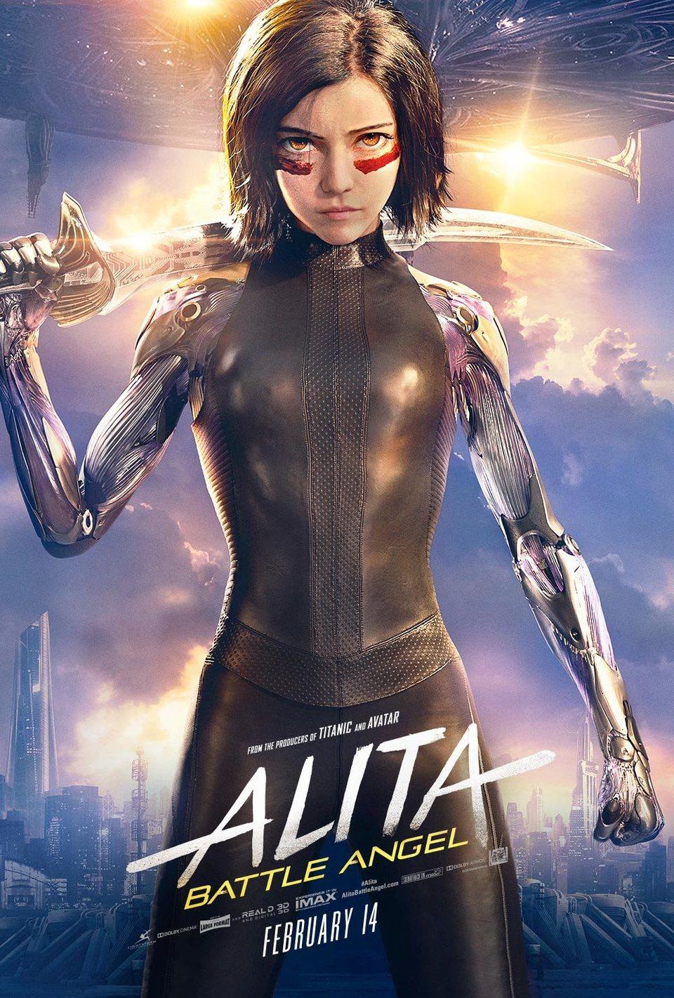 Cartel Poster UK 'Alita: Battle Angel' #2 de 'Alita: Ángel de combate'