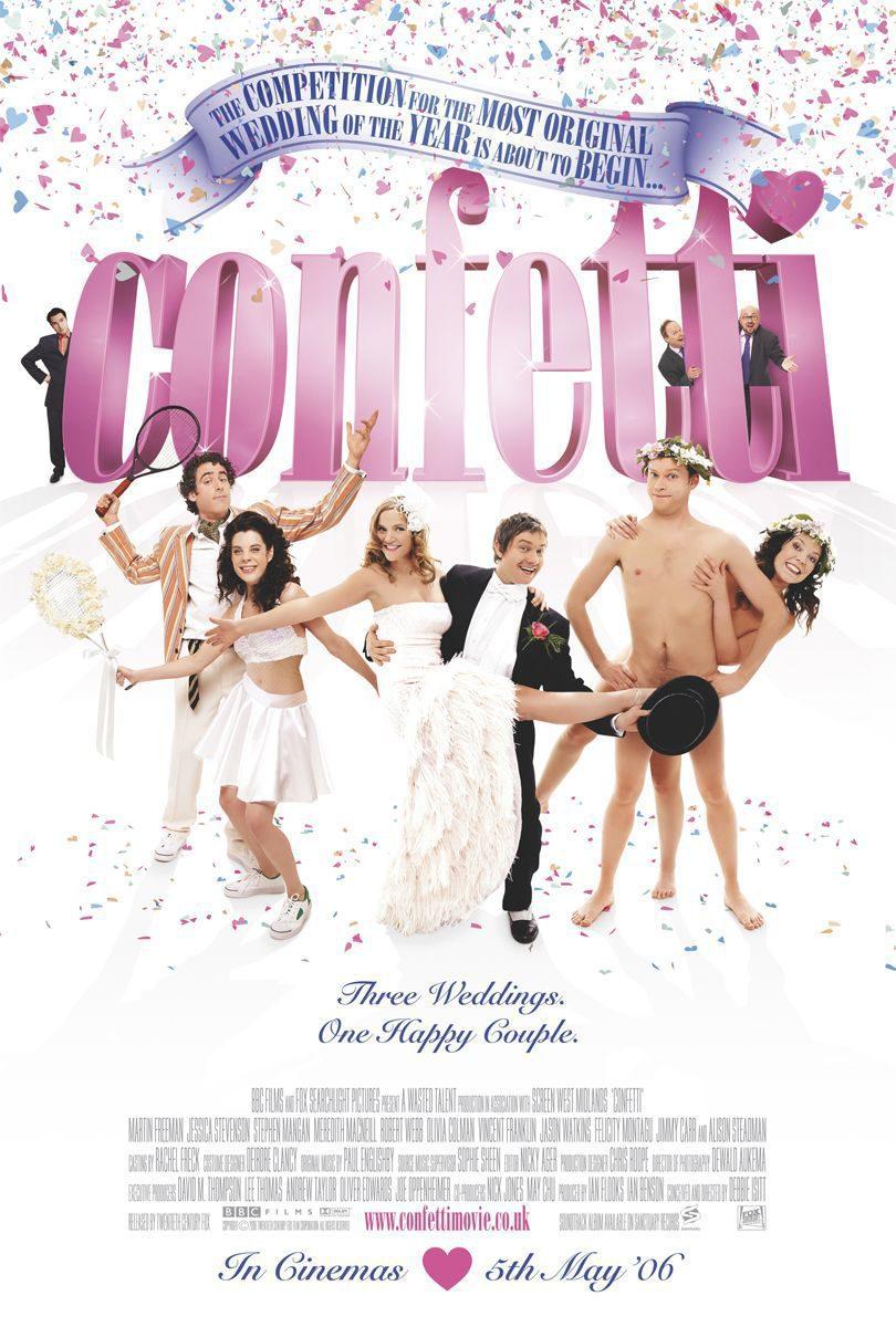 Cartel Reino Unido de 'Confetti'